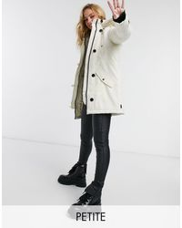 Vero Moda Parka With Faux Fur Hood - Natural