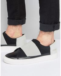 SYSTVM - Slip On Trainers With Elastic In Black - Lyst