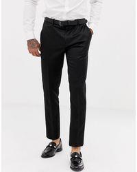 River Island Wedding Skinny Fit Classic Tuxedo Pants - Black