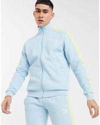 PUMA Luxe - Top della tuta sportiva acquamarina con logo - Blu