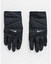 Nike Мужские Стеганые Перчатки Черного Цвета Running-черный