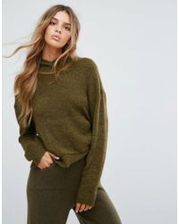 Micha Lounge - Knitted Crop Hoodie - Lyst