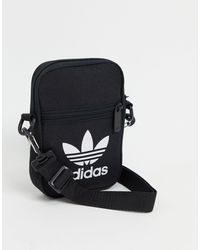 adidas Originals - Bandolera negra con logo grande - Lyst