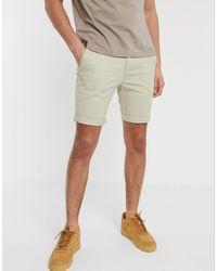 TOPMAN Pantalones cortos chinos ajustados en piedra - Multicolor