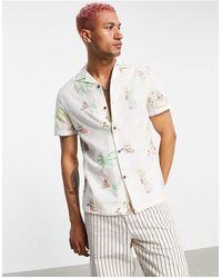 ASOS Camisa con bordado - Blanco
