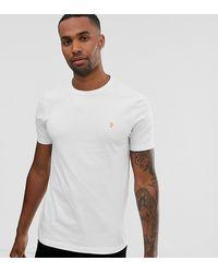 Farah Dennis Solid T-shirt à manches courtes-Noir Chiné Toutes Tailles