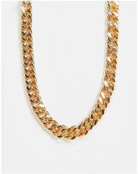 ASOS – farbene Halskette mit grober Gliederkette - Mettallic