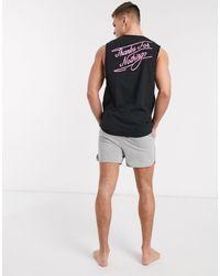 ASOS Pijama con pantalones cortos - Negro