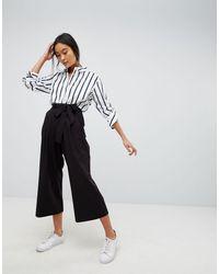 ASOS Culotte con lazada en la cintura Mix & Match - Negro