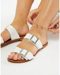 ASOS - Anklet With Filigree Charms In Gold - Lyst