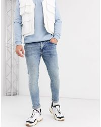 Celio* Jean skinny - délavé clair - Bleu