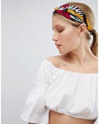 ASOS - Design Tropical Garden Twist Headband - Lyst