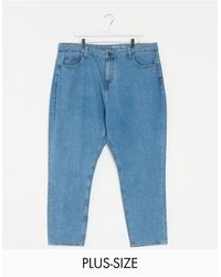Noisy May Mom Jeans In Mid Blue