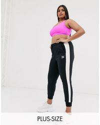 PUMA Черные Спортивные Штаны Plus Classics T7-черный - Многоцветный