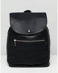 ASOS Soft Backpack With Zip Detail - Black