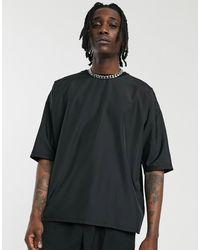 ASOS Oversized T-shirt With Half Sleeve - Black