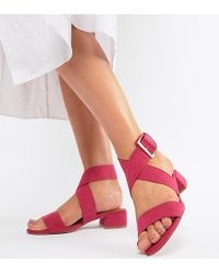 ASOS - Federal Wide Fit Flat Sandals - Lyst