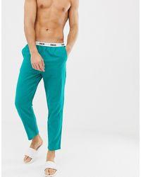ASOS Woven Straight Pyjama Bottoms - Green