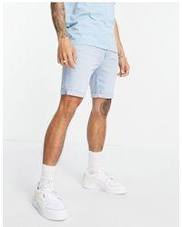 Bershka Super Skinny Denim Shorts - Blue