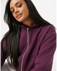 ASOS Co-ord Quilted Sweat With Zip - Red