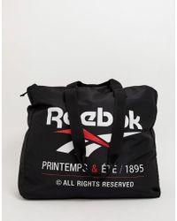 Reebok Shopper mit Logo - Schwarz