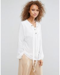 Oeuvre - Pussybow Blouse - Lyst