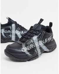 Calvin Klein Marquist Trainers With Large Logo - Black