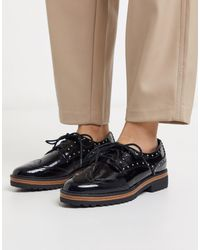 Call It Spring Cavotti Chunky Sole Brogues - Black