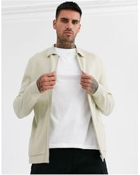 River Island Knitted Overshirt Stone - Multicolor