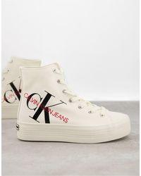 Calvin Klein Jeans – Zoreda – Knöchelhohe Sneaker - Weiß