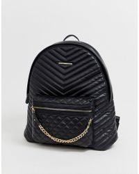 ALDO Rucksack mit Reiverschluss und Tasche auf der Vorderseite - Schwarz