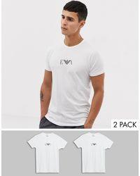 Emporio Armani - 2 Pack Tshirt - Lyst