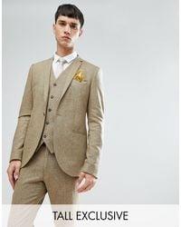 Noak Tall - Giacca da abito skinny puntinata - Multicolore