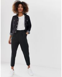 ASOS Tailored Smart Tapered Trousers - Black
