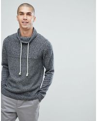 Jack & Jones - Knitted Jumper With Funnel Neck - Lyst