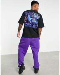 Pull&Bear T-shirt avec manga imprimé dans le dos - Noir