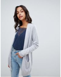 Vila - Long Knitted Cardigan - Lyst