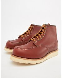 Red Wing - 6 Inch Classic Moc Toe Boots In Oro Russet Leather - Lyst