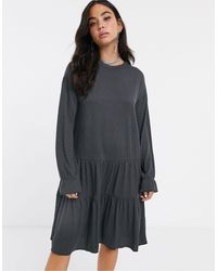Noisy May - – Übergroßes Mini-Pulloverkleid mit Lagendesign - Lyst