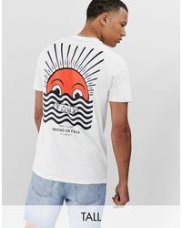 Friend or Faux Tall - Horizon - T-shirt con stampa sul retro - Bianco