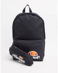 Ellesse Rolby Backpack & Pencil Case Set - Black