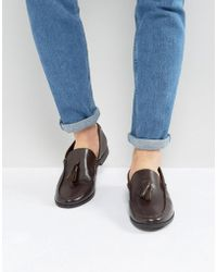 Frank Wright - Tassel Loafers In Brown Leather - Lyst