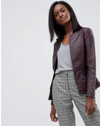 Oasis | Faux Leather Collarless Jacket | Lyst