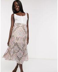 Miss Selfridge Maxi Skirt - Multicolour