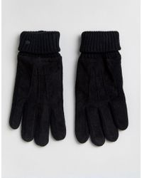Esprit - Gloves With Leather Patch - Lyst