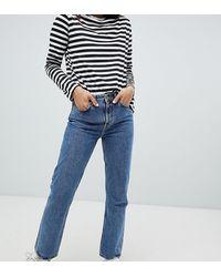 Weekday – Voyage – Jeans mit geradem Beinschnitt aus Bio-Baumwolle - Blau