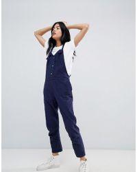 Pull&Bear - Strap Detail Wide Leg Jumpsuit - Lyst