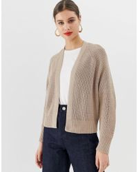 ASOS - Mixed Rib Cardigan In Recycled Blend - Lyst