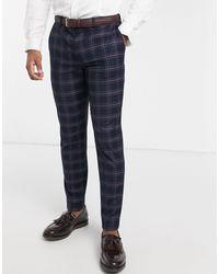 Burton Skinny Suit Trousers - Blue