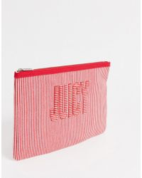 Juicy Couture Zoey Large Pouch In Red Mix